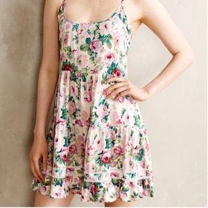 Anthropologie Eloise Floral Mini Dress